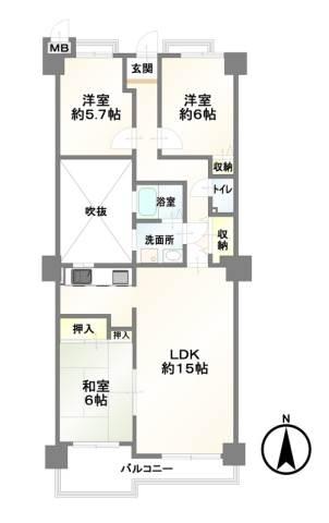 南向き・改装済・家具小物付・トランクルーム有