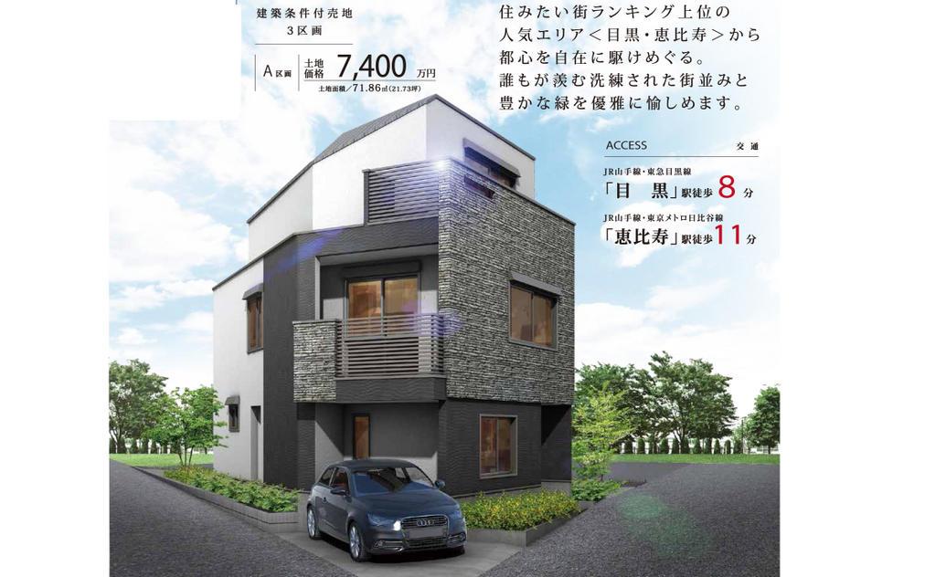 目黒駅の5000万円台の土地