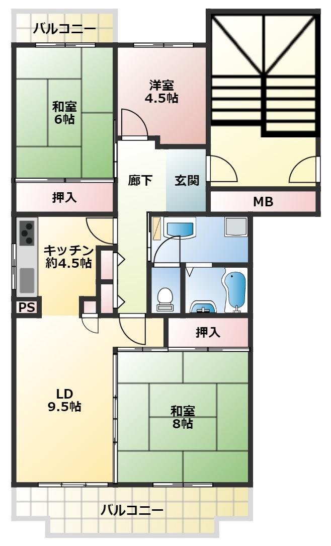 早稲田団地 2階
