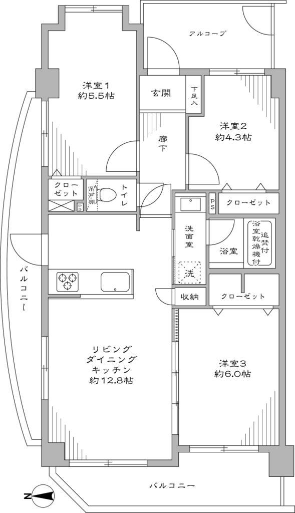 府中八幡町ダイヤモンドマンション 601