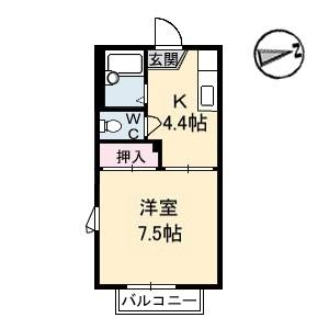 アパート-東広島市八本松町原 間取り