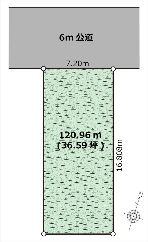 (建築条件なし売地)緑区大門・東川口11分・120平米の整形地