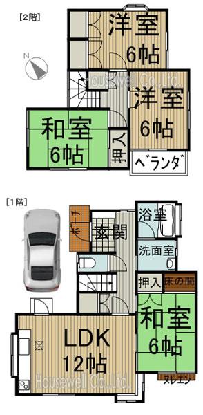久喜市菖蒲町、閑静な整理された住宅街。買い物等も便利です